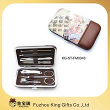 cheap brief PU case manicure kit, mini manicure set with girls manicure set