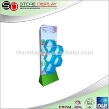 head up display Cosmetics retail cardboard display with shelves