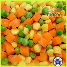 IQF frozen mixed vegetables bulk or canned frozen green pea with sweet corn kernels and diced crrot cubes