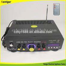Kentiger AC220v/110V/12v car amplifier with FM + Remote control