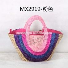 Colorful Corn Husk Straw Bag