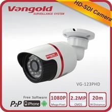 Hotsale WDR HD camera 2.0 MP SDI camera bullet type IP 66 weatherproof