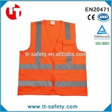 Adults safety jacket , EN471, ANSI/ISEA 107-2010 Class 2 safety vest with zipper, hi-visibility reflective vest , CE safey vest