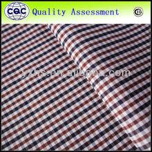 yarn dyed garment 100 cotton plain check china factory 2014 new