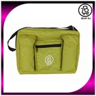 Made in Taiwan lime green large space baby stroller diaper bag