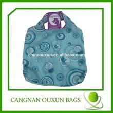Color printing foldable washable shopping bag