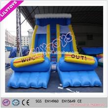 0.55mm pvc two lane jumbo water slide inflatable