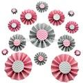 2015 nuova rosa di carta fai da te ventilatore rosette fiore di carta per partito di carta sfondo decorazione