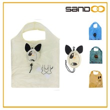 2015 New product folding cat shopping bag, eco foldable carrying bag