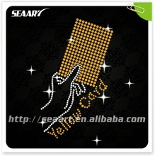 rhinestone yellow card transfer for motif