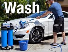 Flow-Thru Bi-Level Wash Brush with Aluminum Extension Handle