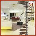 Custom prefabbricati interni scale di legno piccolo, stair corrimano in legno di design