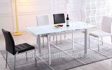 tempered white glass restaurant table L808-4