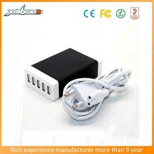 5V/8.0A 5USB charger for iphone 5/5s/5c/ipad/samsung With 1.6m UK/EU/US/AU USB cable