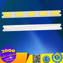 6W 12V 5LED White Light Long Rectangle Shape Waterproof Shockproof Car LED Light Source Yellow