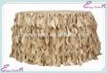 YHK # 48 fundas de colas rizadas - banquete de boda cubierta de la sillade poliéster venta al por mayor fundas con fajín