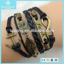 2015 Cheap Infinity Faith Anchor And Owls Friendship Bracelets For Sale