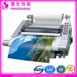 gloss finish bopp material hot melt type laminating film for paper laminating