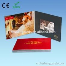 a4 wedding invitation card paper, video invitation with 7 inches screen