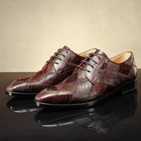 2015 new arravel DMH Italian Style 100% geniune Leather Shoes latest design custom made men dress shoes