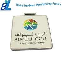 Popular printing zamak cool golf luggage tags