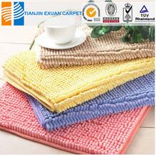 cheap microfiber chenille anti-slip mat from china