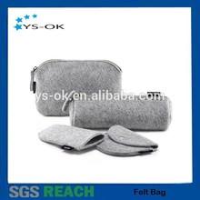 Fashion new customized low cost handmade 100% wool felt pen bag for kids