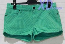 Gzy 98% de algodón + 2% spandex de lujo damas pantalones vaqueros pantalones cortos damas pantalones vaqueros cortos