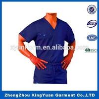 Fashion nurse uniform scrub top design for medical uniform and spa uniforms