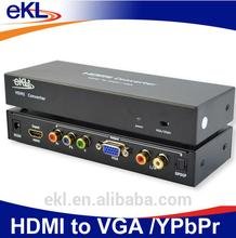 eKL HD to VGA RCA YPBPR converter box with R/L audio jack