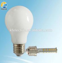 Warm white 360degree E27 5W led glass bulb CRI>80 and warranty 2 years