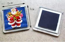 Promotional custom plastic acrylic photo frame fridge magnet