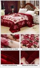 2015 high quality polar fleece blanket with nice embroidery logo