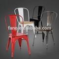 Mch-4001 colorato d'epoca tolixs sedia con sedutain legno pad