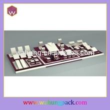 white velvet jewelry display tray (WH-0436)