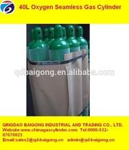 Seamless Steel Oxygen Gas Cylinders 40 L