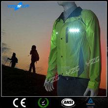 Fluorescent Hi vis EL light LED Running Shirt