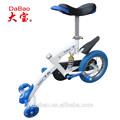 la bicicleta única para los niños con tres ruedas
