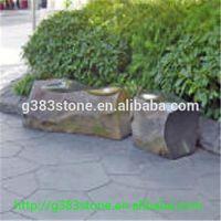 natural basalt garden pillar from China