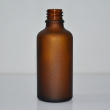 airtight 50ml amber frosted glass bottle