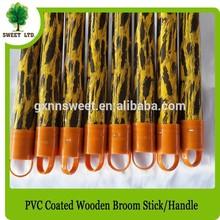 Round wood broom stick handle