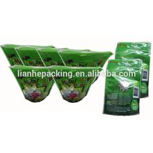 HDPE bio-degradable black side gusset trash bag on roll
