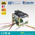 Micro sd card storage RJ45 mobile surveillance pinhole/fisheye HD wifi ip camera module board