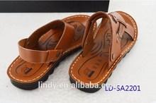 2015 Fashion Leisure Artificial/Man-made Pu Men' Beach Sandals Slippers High Quality Wholesale Cheap For Man