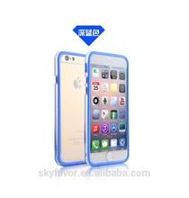 ultrathin TPU bumper for iphone 6,Double color transparent bumper clear case