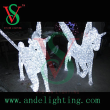 2015 white flying horse pegasus LED sculpture 3D light Christmas holiday motif light