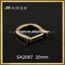 OEM design functional d ring buckle,leather bag hardware