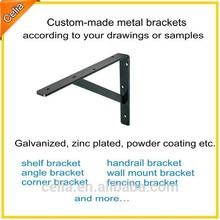 custom made angled shelf supports