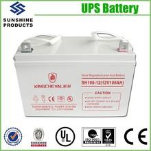 Maintenance-Free Lead Acid Storage Agm Vrla Battery 12V 100Ah