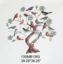 3D Big modern wall hanging abstract birds tree metal wall art decor